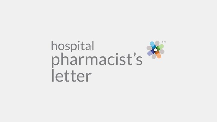 Hospital Pharmacist's Letter